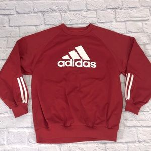 Adidas Crew Neck sweatshirt Red/white Small/14/16